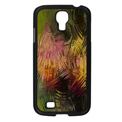 Abstract Brush Strokes In A Floral Pattern  Samsung Galaxy S4 I9500/ I9505 Case (Black)
