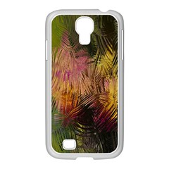 Abstract Brush Strokes In A Floral Pattern  Samsung Galaxy S4 I9500/ I9505 Case (white)