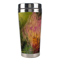 Abstract Brush Strokes In A Floral Pattern  Stainless Steel Travel Tumblers