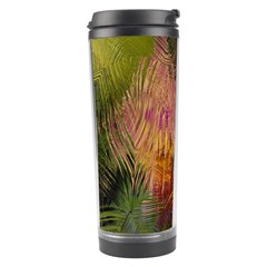 Abstract Brush Strokes In A Floral Pattern  Travel Tumbler