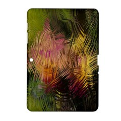 Abstract Brush Strokes In A Floral Pattern  Samsung Galaxy Tab 2 (10 1 ) P5100 Hardshell Case