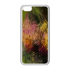 Abstract Brush Strokes In A Floral Pattern  Apple iPhone 5C Seamless Case (White)