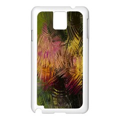 Abstract Brush Strokes In A Floral Pattern  Samsung Galaxy Note 3 N9005 Case (White)