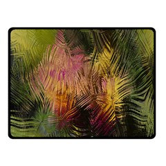 Abstract Brush Strokes In A Floral Pattern  Double Sided Fleece Blanket (Small)