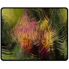 Abstract Brush Strokes In A Floral Pattern  Double Sided Fleece Blanket (Medium)