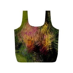 Abstract Brush Strokes In A Floral Pattern  Full Print Recycle Bags (s)