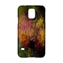 Abstract Brush Strokes In A Floral Pattern  Samsung Galaxy S5 Hardshell Case