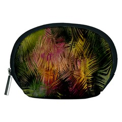 Abstract Brush Strokes In A Floral Pattern  Accessory Pouches (Medium)