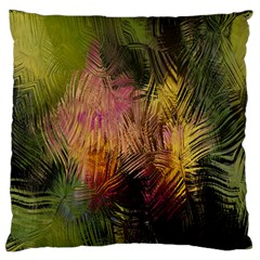 Abstract Brush Strokes In A Floral Pattern  Large Flano Cushion Case (One Side)