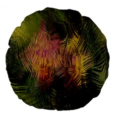 Abstract Brush Strokes In A Floral Pattern  Large 18  Premium Flano Round Cushions