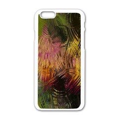 Abstract Brush Strokes In A Floral Pattern  Apple iPhone 6/6S White Enamel Case