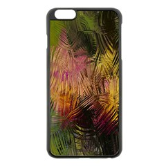 Abstract Brush Strokes In A Floral Pattern  Apple iPhone 6 Plus/6S Plus Black Enamel Case