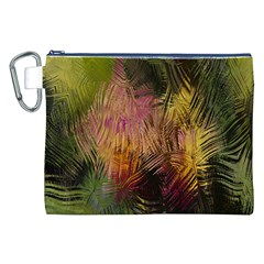 Abstract Brush Strokes In A Floral Pattern  Canvas Cosmetic Bag (xxl)