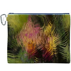 Abstract Brush Strokes In A Floral Pattern  Canvas Cosmetic Bag (xxxl)