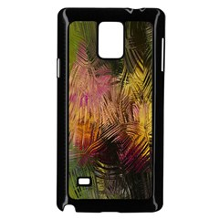 Abstract Brush Strokes In A Floral Pattern  Samsung Galaxy Note 4 Case (Black)