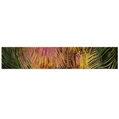 Abstract Brush Strokes In A Floral Pattern  Flano Scarf (large)