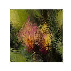Abstract Brush Strokes In A Floral Pattern  Small Satin Scarf (Square)