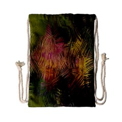 Abstract Brush Strokes In A Floral Pattern  Drawstring Bag (small)