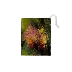 Abstract Brush Strokes In A Floral Pattern  Drawstring Pouches (xs)