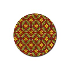 Beautiful Abstract Pattern Background Wallpaper Seamless Rubber Round Coaster (4 pack)