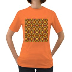 Beautiful Abstract Pattern Background Wallpaper Seamless Women s Dark T-Shirt