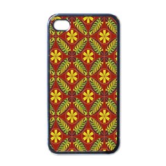Beautiful Abstract Pattern Background Wallpaper Seamless Apple Iphone 4 Case (black)