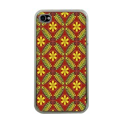 Beautiful Abstract Pattern Background Wallpaper Seamless Apple iPhone 4 Case (Clear)
