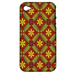 Beautiful Abstract Pattern Background Wallpaper Seamless Apple iPhone 4/4S Hardshell Case (PC+Silicone)