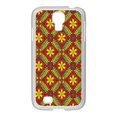 Beautiful Abstract Pattern Background Wallpaper Seamless Samsung GALAXY S4 I9500/ I9505 Case (White)