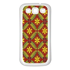 Beautiful Abstract Pattern Background Wallpaper Seamless Samsung Galaxy S3 Back Case (White)