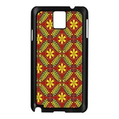 Beautiful Abstract Pattern Background Wallpaper Seamless Samsung Galaxy Note 3 N9005 Case (Black)