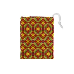 Beautiful Abstract Pattern Background Wallpaper Seamless Drawstring Pouches (Small)