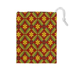 Beautiful Abstract Pattern Background Wallpaper Seamless Drawstring Pouches (large)