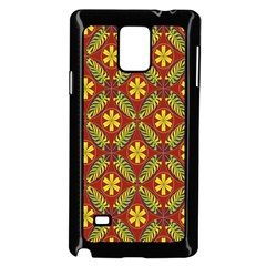Beautiful Abstract Pattern Background Wallpaper Seamless Samsung Galaxy Note 4 Case (Black)