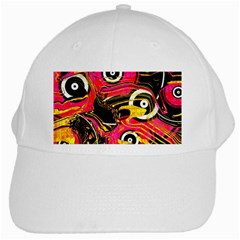 Abstract Clutter Pattern Baffled Field White Cap