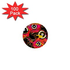Abstract Clutter Pattern Baffled Field 1  Mini Buttons (100 pack)