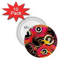Abstract Clutter Pattern Baffled Field 1 75  Buttons (10 Pack)