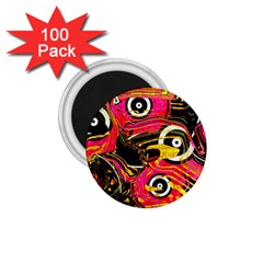 Abstract Clutter Pattern Baffled Field 1.75  Magnets (100 pack)