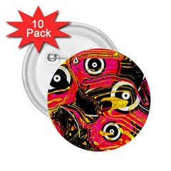 Abstract Clutter Pattern Baffled Field 2 25  Buttons (10 Pack)