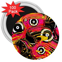 Abstract Clutter Pattern Baffled Field 3  Magnets (100 pack)