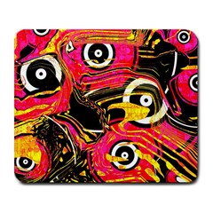 Abstract Clutter Pattern Baffled Field Large Mousepads