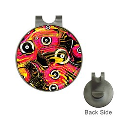Abstract Clutter Pattern Baffled Field Hat Clips With Golf Markers