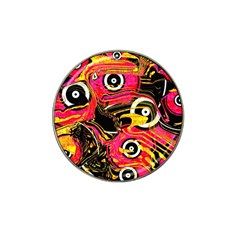 Abstract Clutter Pattern Baffled Field Hat Clip Ball Marker (4 pack)