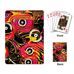 Abstract Clutter Pattern Baffled Field Playing Card