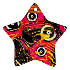Abstract Clutter Pattern Baffled Field Star Ornament (two Sides)