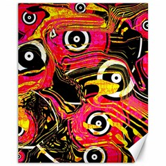 Abstract Clutter Pattern Baffled Field Canvas 11  x 14