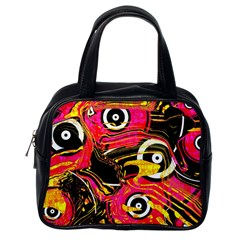 Abstract Clutter Pattern Baffled Field Classic Handbags (One Side)
