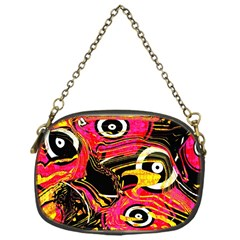Abstract Clutter Pattern Baffled Field Chain Purses (one Side)