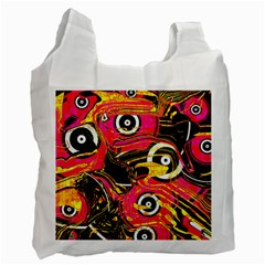 Abstract Clutter Pattern Baffled Field Recycle Bag (one Side)