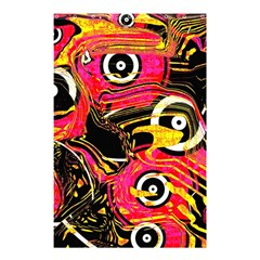 Abstract Clutter Pattern Baffled Field Shower Curtain 48  x 72  (Small)